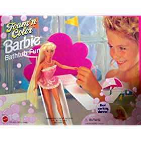 Barbie - Foam 'n Color Bathtub Fun Playset - 1995 Arcotoys, Mattel