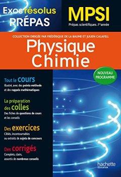 Livres Couvertures de Exos Résolus - Prépas Physique-Chimie MPSI