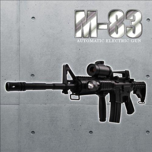 予備マガジン付き1/1スケールコルトM4A1 RISバージョン高性能アサルトライフル 電動ガン フラッシュライト、スコープ搭載モデルM83エアガン