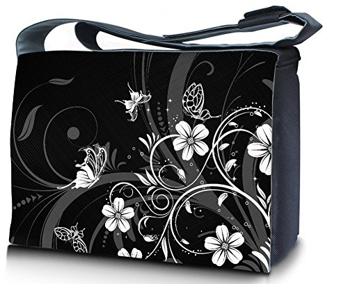 WATERFLY-Fashion-Soft-Lightweight-Nylon-156-Inch-Padded-Compartment-Shoulder-Messenger-Bag-Case-Cover-Handbag-Crossbody-Hybrid-Bag-Hobo-Bag-Traveling-Bag-Sports-Duffels-Bag-436