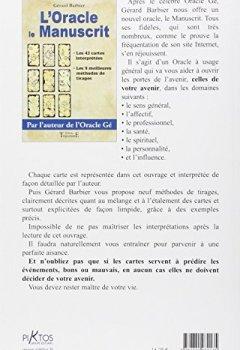 Livres Couvertures de L'Oracle le manuscrit