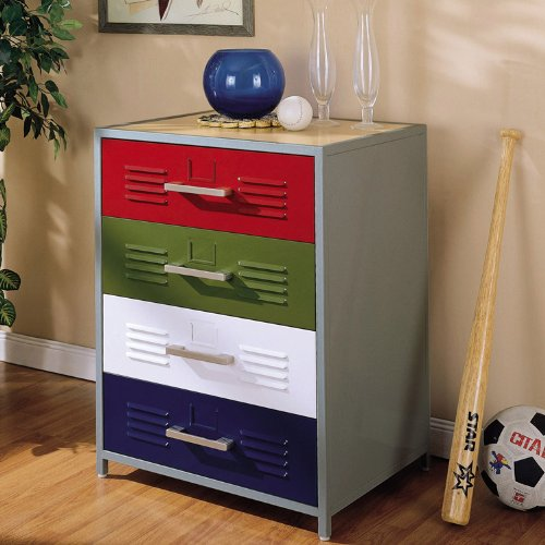Image of Powell 517-008 Teen Trends Primary Drawer Kids Dresser (517-008)