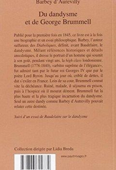 Livres Couvertures de Du dandysme et de George Brummell
