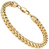 FIBO STEEL 6mm Wide Curb Chain Bracelet for Men Stainless Steel High Polished,8.5-9.1""