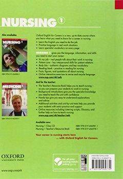 Livres Couvertures de Oxford English for Careers: Nursing 1: Student's Book