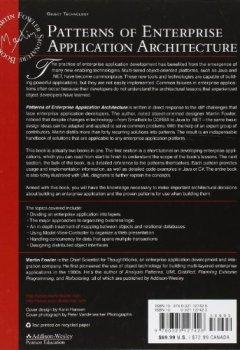 Livres Couvertures de Patterns of Enterprise Application Architecture