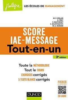 Livres Couvertures de Score IAE-Message - 3e éd. - Tout-en-un