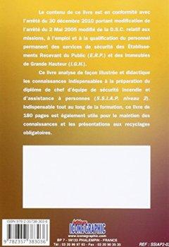 Livres Couvertures de Livre SSIAP2 - Service de Sécurité Incendie et d'Assistance à Personnes - Chef d'Equipe