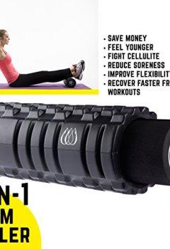 Livres Couvertures de Rouleau en mousse 2-en-1 + double-lacrosse Trigger Point Balles de massage + Rouleau de massage musculaire bâton et sac de transport