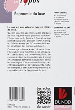 Livres Couvertures de Economie du luxe