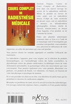 Livres Couvertures de Cours complet de radiesthésie médicale