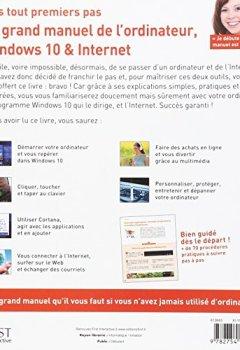 Livres Couvertures de Mes tout premiers pas - Le grand manuel de l'ordinateur, Windows 10 & Internet