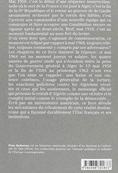 Livres Couvertures de La guerre civile en France, 1958-1962 : Du coup d'Etat gaulliste à la fin de l'OAS
