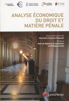 Livres Couvertures de Analyse économique du droit et matière pénale