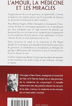 Livres Couvertures de L'Amour, la Médecine et les Miracles