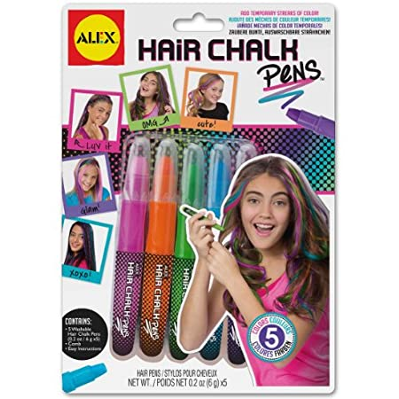 ALEX Toys Spa Hair Chalk Pens let your little diva transform her hair from plain to punk in minutes with vibrant chalk pens! Simply apply to dry hair of any color.  When you're ready for another change, simply wash out with shampoo. The set includes ...