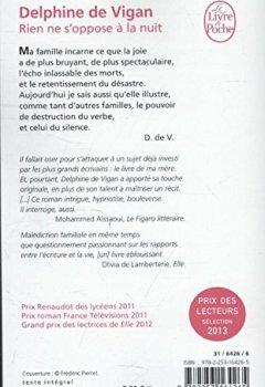 Livres Couvertures de Rien ne s'oppose à la nuit - Grand prix des Lectrices de Elle 2012