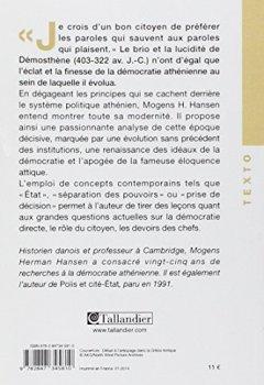 Livres Couvertures de La démocratie athénienne à l'époque de Démosthène : Structure, principes et idéologie