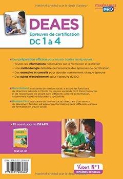 Livres Couvertures de DEAES - DC 1 à 4 - Méthode et entraînement - Diplôme d'État d'Accompagnant éducatif et social - Session 2017