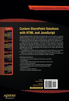 Livres Couvertures de Custom SharePoint Solutions with HTML and JavaScript: For SharePoint 2013 and SharePoint Online