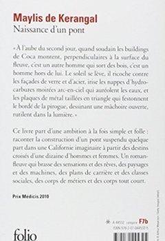 Livres Couvertures de Naissance d'un pont - PRIX MEDICIS 2010