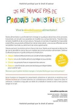 Livres Couvertures de Je ne mange pas de produits industriels: Haro sur la malbouffe !