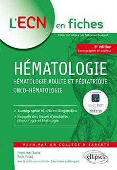 Livres Couvertures de Hématologie Adulte et Pédiatrique Onco-Hematologie iECN