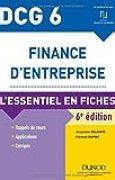 DCG 6 - Finance d'entreprise - 6e éd. - L'essentiel en fiches