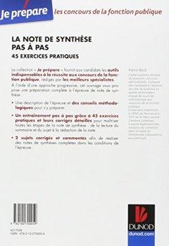 Livres Couvertures de La note de synthèse pas à pas - 45 exercices pratiques - Catégories A et B