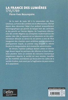 Livres Couvertures de La France des Lumières 1715-1789 - Format compact