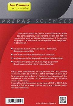 Livres Couvertures de Formulaire Maths ECE 1re et 2e Années En 1 Clin d'Oeil Programme 2014
