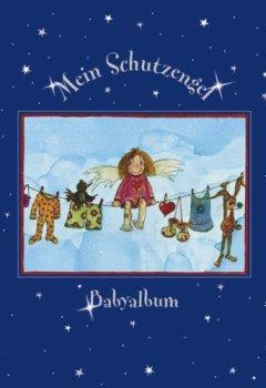 Buchdeckel von Baby-Album: Schutzengel. Silberfolienprägung