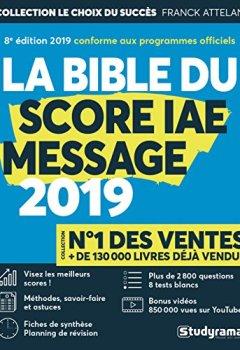 Livres Couvertures de La Bible du Score IAE Message