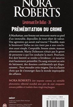 Livres Couvertures de Lieutenant Eve Dallas, Tome 36 : Préméditation du crime