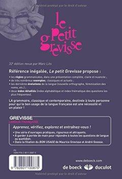 Livres Couvertures de Le Petit Grevisse : Grammaire française