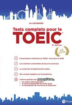 Livres Couvertures de Tests complets pour le TOEIC® 6e édition 2018