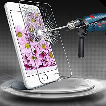 """Note: iPhone 6 Plus has curved edge, screen protector will only cover the flat surface. Premium tempered iPhone 6 Plus 5.5"""" glass screen protector is built with 9H tempered thin glass. It features with high screen clarity, anti-oil, anti-scratch..."""
