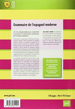 Livres Couvertures de Grammaire de l'espagnol moderne