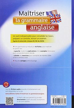 Livres Couvertures de Maîtriser la grammaire anglaise à l'écrit et à l'oral: Pour mieux communiquer à l'écrit et à l'oral - Lycée et université (1-B2)