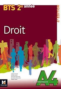 Livres Couvertures de Les Nouveaux A4 - DROIT - BTS 2e année