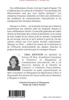 Livres Couvertures de Manager en Chine : Les managers français vus par leurs collaborateurs chinois - Clés de la motivation