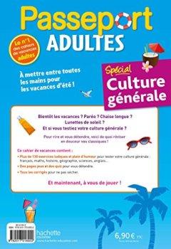 Livres Couvertures de Passeport Adultes - Spécial culture générale- Cahier de vacances