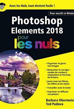 Livres Couvertures de Photoshop Elements 2018 pour les Nuls, grand format