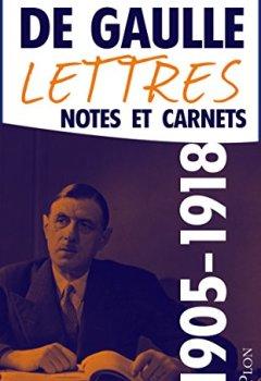 Livres Couvertures de Lettres, notes et carnets, tome 1 : 1905-1918