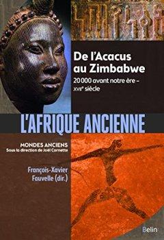 Livres Couvertures de L'Afrique ancienne : De l'Acacus au Zimbabwe. 20 000 avant notre ère XVIIe siècle