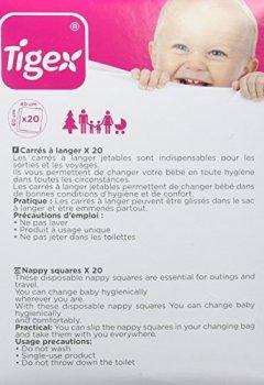 Livres Couvertures de Tigex Lot de 20 Protections Jetables pour Matelas à Langer