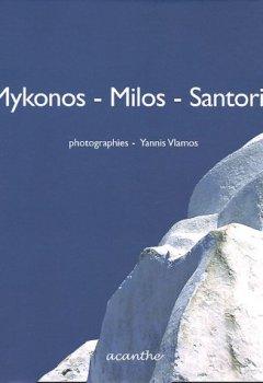 Livres Couvertures de Mykonos-Milos-Santorin
