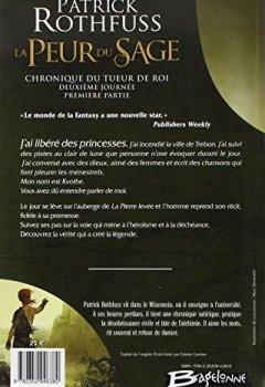 Livres Couvertures de Chronique du Tueur de Rois deuxième journée T02 La Peur du sage - première partie: Chronique du Tueur de Rois, deuxième journée