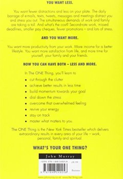 Livres Couvertures de The One Thing: The Surprisingly Simple Truth Behind Extraordinary Results