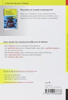 Livres Couvertures de Nouvelles du monde contemporain: Skarmeta, Le Clézio, Daeninckx, Tournier